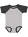 INFANT BASEBALL BODYSUIT Vintage Heather/Vintage Smoke
