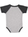 INFANT BASEBALL BODYSUIT Vintage Heather/Vintage Smoke Back