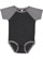 INFANT BASEBALL BODYSUIT Vintage Smoke/Granite Heather