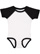 INFANT BASEBALL BODYSUIT White/Black