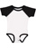 INFANT BASEBALL BODYSUIT White/Black Open
