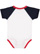 INFANT BASEBALL BODYSUIT White/Navy/Red Back