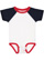 INFANT BASEBALL BODYSUIT White/Navy/Red Open