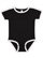 INFANT RETRO RINGER BODYSUIT Black/White