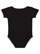 INFANT RETRO RINGER BODYSUIT Black/White Back