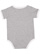 INFANT RETRO RINGER BODYSUIT Heather/White Back