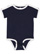 INFANT RETRO RINGER BODYSUIT Navy/White Open