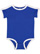 INFANT RETRO RINGER BODYSUIT Royal/White