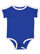 INFANT RETRO RINGER BODYSUIT Royal/White Open