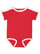 INFANT RETRO RINGER BODYSUIT Red/White