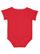 INFANT RETRO RINGER BODYSUIT Red/White Back