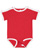 INFANT RETRO RINGER BODYSUIT Red/White Open