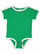 INFANT RETRO RINGER BODYSUIT Vintage Green/White Open