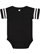 INFANT FOOTBALL BODYSUIT Black/White
