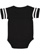INFANT FOOTBALL BODYSUIT Black/White Back