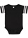 INFANT FOOTBALL BODYSUIT Black/White Open