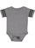 INFANT FOOTBALL BODYSUIT Granite Heather/Vintage Smoke Open