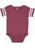 INFANT FOOTBALL BODYSUIT Vintage Burgundy/Blended White