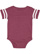 INFANT FOOTBALL BODYSUIT Vintage Burgundy/Blended White Back