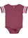 INFANT FOOTBALL BODYSUIT Vintage Burgundy/Blended White Open