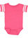 INFANT FOOTBALL BODYSUIT Vintage Hot Pink/Blended White