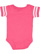 INFANT FOOTBALL BODYSUIT Vintage Hot Pink/Blended White Back
