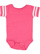 INFANT FOOTBALL BODYSUIT Vintage Hot Pink/Blended White Open
