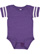 INFANT FOOTBALL BODYSUIT Vintage Purple/Blended White Open