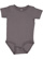 INFANT PREMIUM JERSEY BODYSUIT Charcoal Open