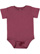 INFANT PREMIUM JERSEY BODYSUIT Vintage Burgundy Open