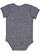 INFANT MELANGE JERSEY BODYSUIT Navy Melange Back