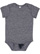 INFANT MELANGE JERSEY BODYSUIT Navy Melange Open
