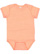 INFANT MELANGE JERSEY BODYSUIT Papaya Melange