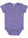 INFANT MELANGE JERSEY BODYSUIT Purple Melange