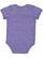 INFANT MELANGE JERSEY BODYSUIT Purple Melange Back