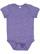 INFANT MELANGE JERSEY BODYSUIT Purple Melange Open