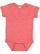 INFANT MELANGE JERSEY BODYSUIT Red Melange