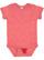 INFANT MELANGE JERSEY BODYSUIT Red Melange Open