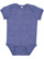 INFANT MELANGE JERSEY BODYSUIT Royal Melange